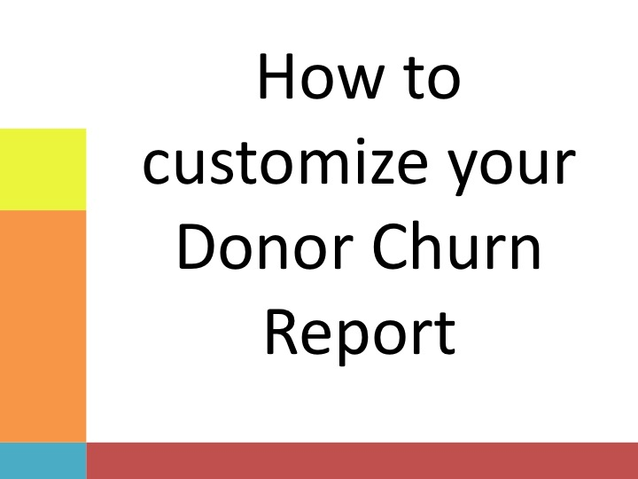 Donor Churn